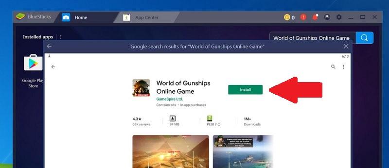 Install World of Gunships Online Game for PC